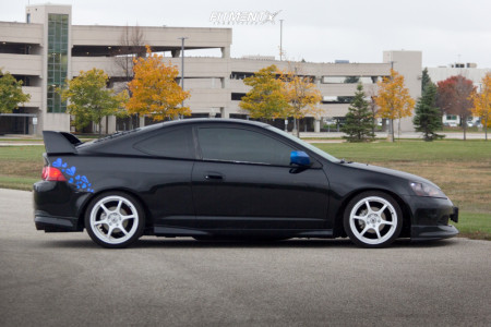 2006 Acura RSX - 17x7.5 42mm - Advan Racing Rgii - Coilovers - 205/40R17