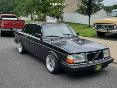 1992 Volvo 240 - 17x10 25mm - SVE Saleen Sc - Coilovers - 245/35R17