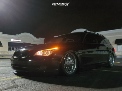 2010 BMW 535i xDrive - 18x8 38mm - Work Ls207 - Air Suspension - 245/40R18