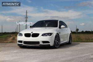 2008 BMW M3 - 20x9 18mm - Velgen VMB5 - Lowered on Springs - 245/30R20