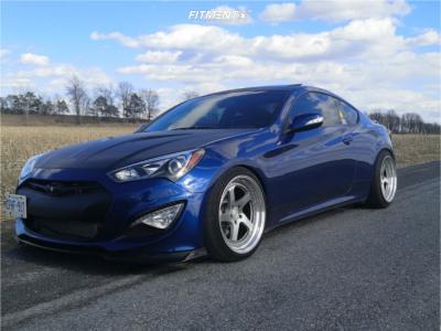 2014 Hyundai Genesis Coupe - 19x9.5 11mm - Zedd Sl5 - Coilovers - 245/30R19