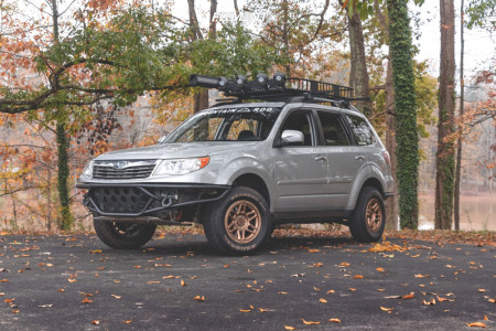 2010 Subaru Forester - 15x7 10mm - KMC Km716 - Lifted - 215/75R15