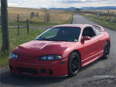 1999 Mitsubishi Eclipse - 16x7 22mm - Street Gear Shadow - Coilovers - 245/45R16