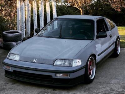 1991 Honda CRX - 15x8 0mm - STR 501 - Coilovers - 195/45R15