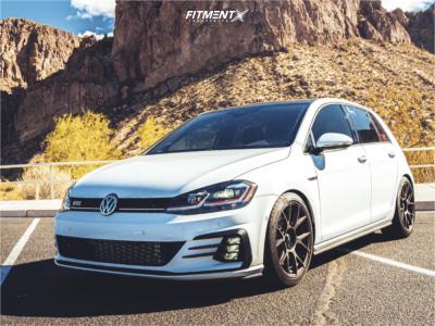2019 Volkswagen GTI - 18x8.5 43mm - Konig Ampliform - Lowering Springs - 235/40R18