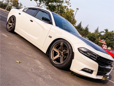 2018 Dodge Charger - 20x9.5 15mm - Factory Reproductions FR 77 - Lowering Springs - 275/40R20