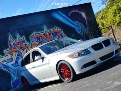 2007 BMW 328i - 18x8.5 35mm - F1R F21 - Coilovers - 235/40R18