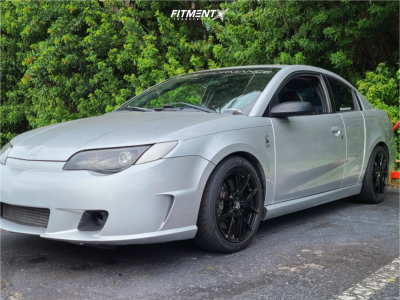 2005 Saturn Ion - 17x7.5 35mm - Sparco Podio - Stock Suspension - 215/45R17
