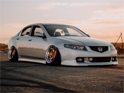 2004 Acura TSX - 18x9 -22mm - Work Meister S1 3p - Air Suspension - 225/35R18