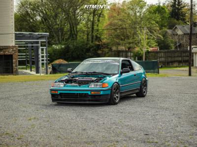 1991 Honda CRX - 15x8 35mm - Gram Lights 57dr - Coilovers - 205/50R15