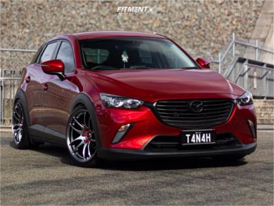 2018 Mazda CX-3 - 19x9.5 38mm - Work Emotion Cr Kiwami - Coilovers - 215/40R19