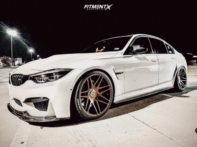 2018 BMW M3 - 20x9.5 23mm - Forgestar F14 - Lowering Springs - 265/30R20