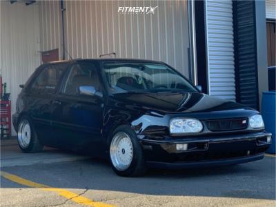 1997 Volkswagen Golf - 15x7 0mm - STR 506 - Coilovers - 195/50R15