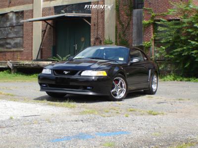 2000 Ford Mustang - 17x9 28mm - Steeda Ultralite I - Lowering Springs - 275/40R17