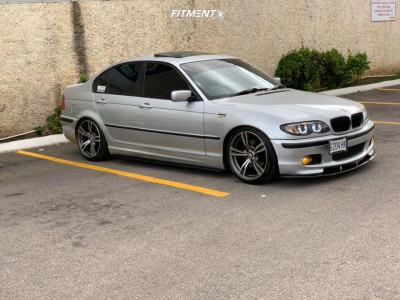 2003 BMW 325i - 18x9 32mm - BMW M6 STYLE 343 OEM GENUINE DOUBLE SPOKE - Lowering Springs - 225/40R18