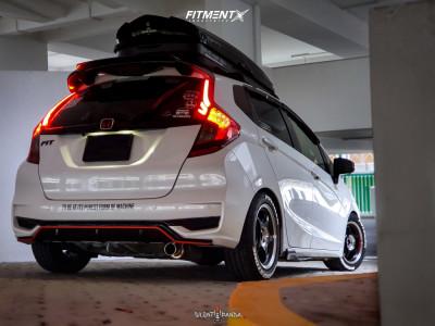 2019 Honda Fit - 15x7 42mm - 5zigen Fn01r-c - Coilovers - 195/55R15