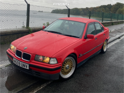 1996 BMW 318i - 17x7.5 35mm - Lenso Bsx - Coilovers - 225/45R17