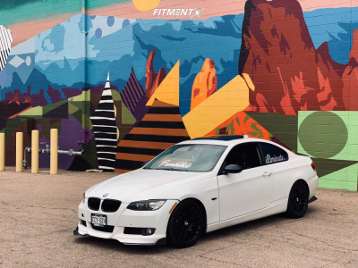 2008 BMW 328i - 18x9 35mm - BBS 197 - Coilovers - 255/35R18