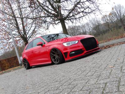 2013 Audi A3 - 19x9.5 35mm - JR-Wheels SL01 - Air Suspension - 215/35R19