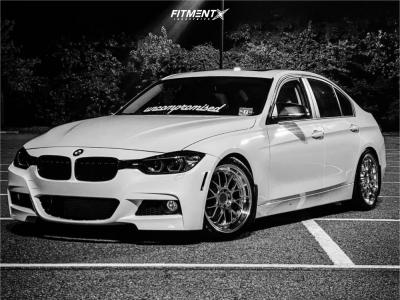2013 BMW 320i xDrive - 18x8.5 35mm - F1R F21 - Lowering Springs - 235/40R18