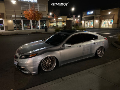 2014 Acura TL - 20x9.5 17mm - Work Vs Xx - Coilovers - 225/30R20