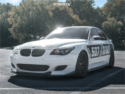 2008 BMW M5 - 20x9.5 9mm - Forgestar F14 - Lowering Springs - 255/35R20