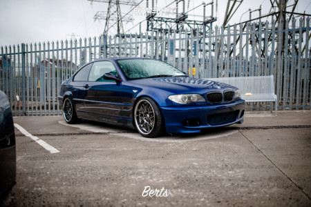 2004 BMW 325Ci - 18x9 25mm - XXR 526 - Coilovers - 215/45R18