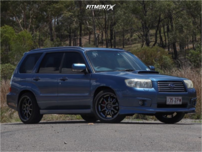 2006 Subaru Forester - 18x9.75 35mm - Rota P1r - Coilovers - 235/40R18
