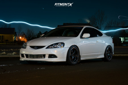2006 Acura RSX - 17x8 35mm - VMS V-Star - Coilovers - 235/45R17
