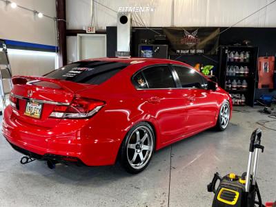 2014 Honda Civic - 18x8.5 35mm - AVID1 Av6 - Lowering Springs - 225/40R18