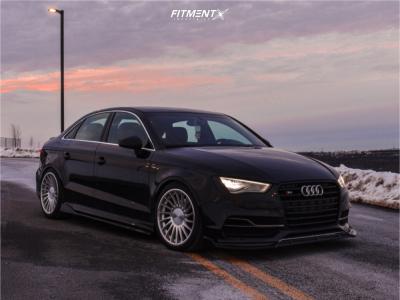 2015 Audi S3 - 18x8.5 42mm - 3SDM 0.04 - Lowering Springs - 225/40R18
