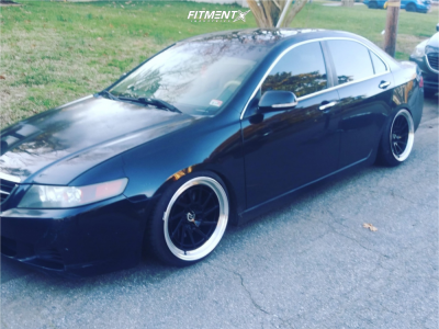 2004 Acura TSX - 18x10.5 22mm - Heritage Hokkaido Directional - Coilovers - 215/40R18