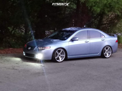 2004 Acura TSX - 18x8 35mm - JNC 026 - Coilovers - 215/35R18
