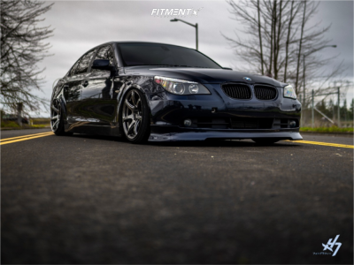 2006 BMW 550i - 18x9.5 22mm - Work Emotion T7r - Coilovers - 225/40R18