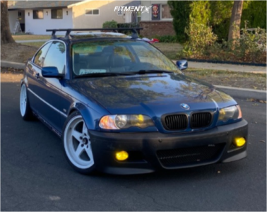 2001 BMW 325Ci - 18x9 25mm - Cosmis Racing Xt-005r - Coilovers - 225/35R18