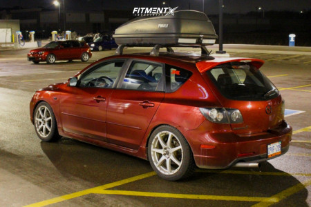 2006 Mazda 3 - 18x7.5 50mm - Rays Engineering MS-TII - Coilovers - 225/45R18