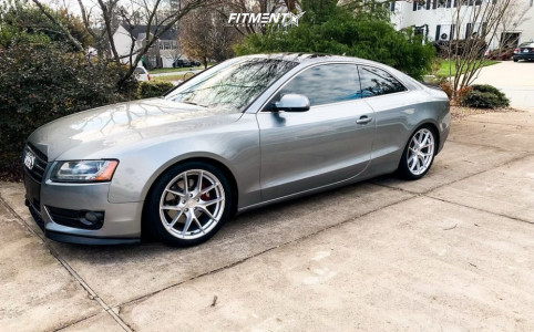 2010 Audi A5 - 18x8.5 35mm - Aodhan Aff7 - Coilovers - 285/40R18