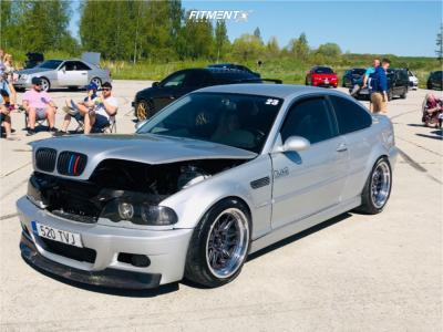 2001 BMW 330Ci - 18x9.5 10mm - Cosmis Racing Xt-206r - Coilovers - 235/40R18