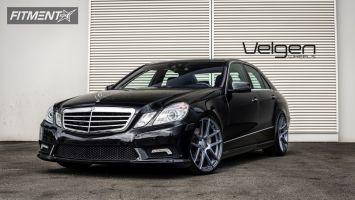 2013 Mercedes-Benz E550 - 20x9 32mm - Velgen VMB5 - Lowered on Springs - 245/35R20