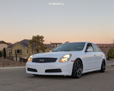 2005 Infiniti G35 - 18x9 35mm - Work Emotion Xd9 - Coilovers - 225/40R18