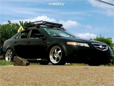 2004 Acura TL - 18x9.5 35mm - Whistler Kr1 - Coilovers - 285/45R18