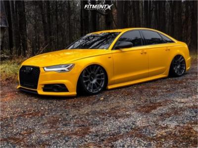2016 Audi S6 - 20x10.5 40mm - Rotiform Ozr - Air Suspension - 285/25R20