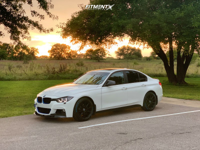 2014 BMW 328d - 18x8.5 35mm - Niche Staccato - Coilovers - 225/45R18