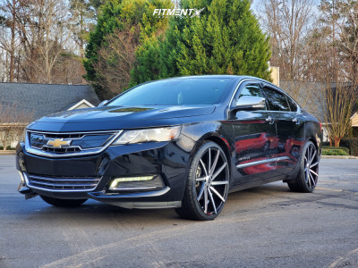 2016 Chevrolet Impala - 22x9 35mm - Strada Sega - Stock Suspension - 265/30R22
