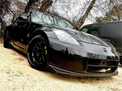 2006 Nissan 350Z - 18x10.5 22mm - Aodhan DS07 - Stock Suspension - 225/35R18