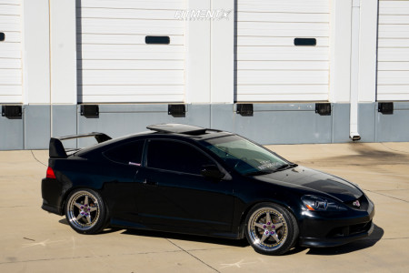 2005 Acura RSX - 18x8.5 35mm - Aodhan Ds05 - Coilovers - 225/40R18
