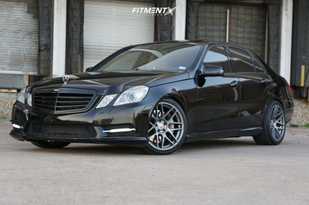 2012 Mercedes-Benz E550 - 19x9 30mm - Curva C300 - Lowering Springs - 245/35R19