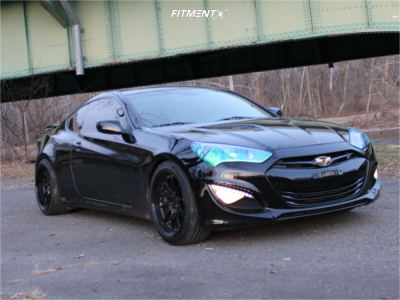 2013 Hyundai Genesis Coupe - 19x9.5 22mm - Aodhan Ds07 - Coilovers - 245/40R19
