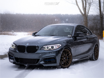2015 BMW M235i xDrive - 18x8.5 35mm - Apex Arc-8 - Lowering Springs - 235/40R18