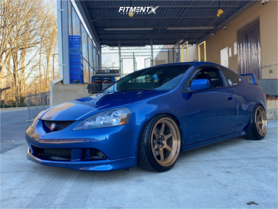 2003 Acura RSX - 18x9.5 10mm - Cosmis Racing Xt-006r - Coilovers - 215/40R18